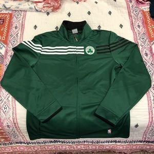 EUC XL Women's Adidas Celtics Zip Up Jacket
